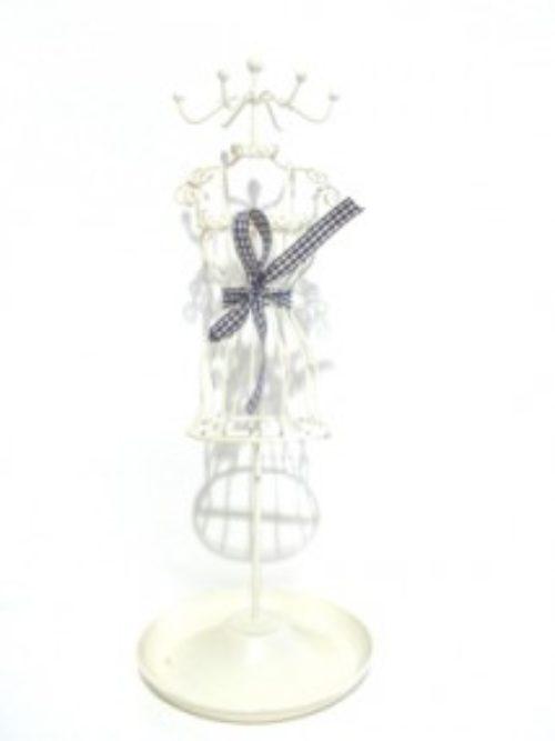 Metalni stalak za nakit bela haljina