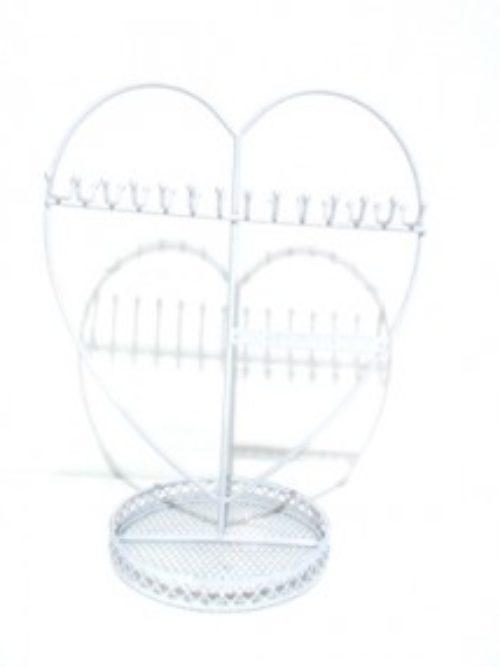 Metalni stalak za nakit srce