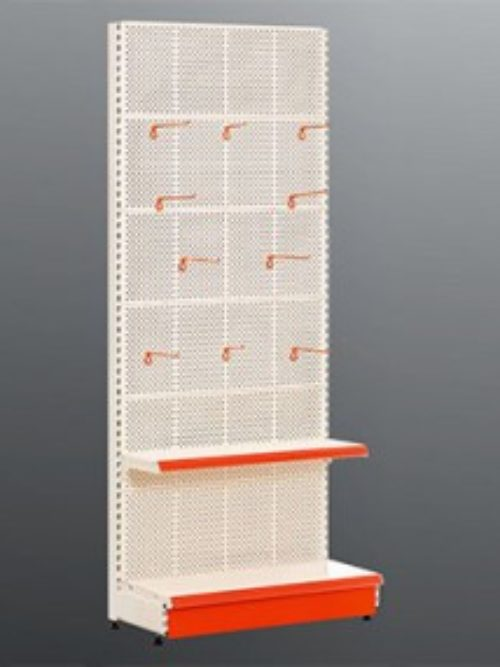 Metalni raf sa perforiranim leđnim panelom