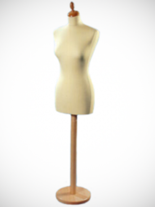 Female tailor doll wooden stand