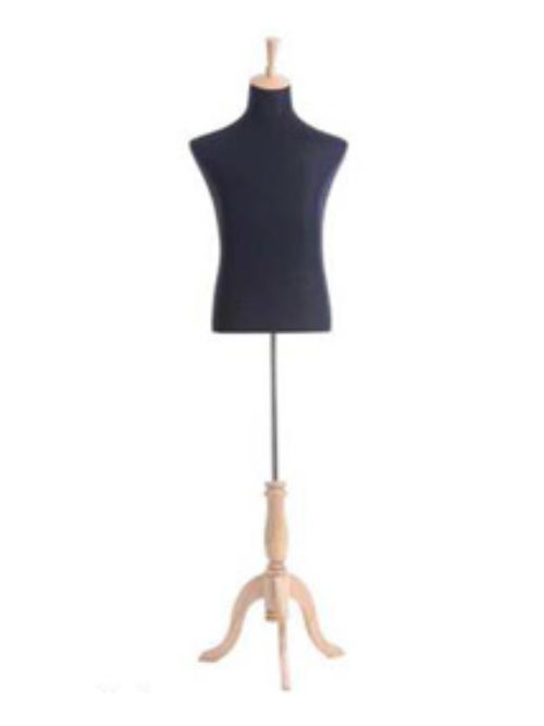 Mannequin tailor doll with wooden stand
