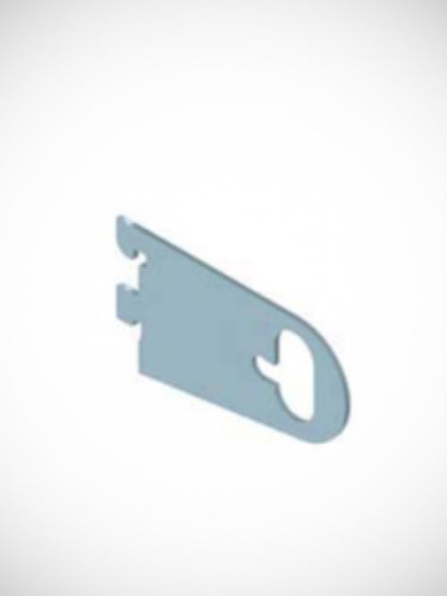 Držač za ovalnu cev za nosač fitinga hromiran za korak 25mm