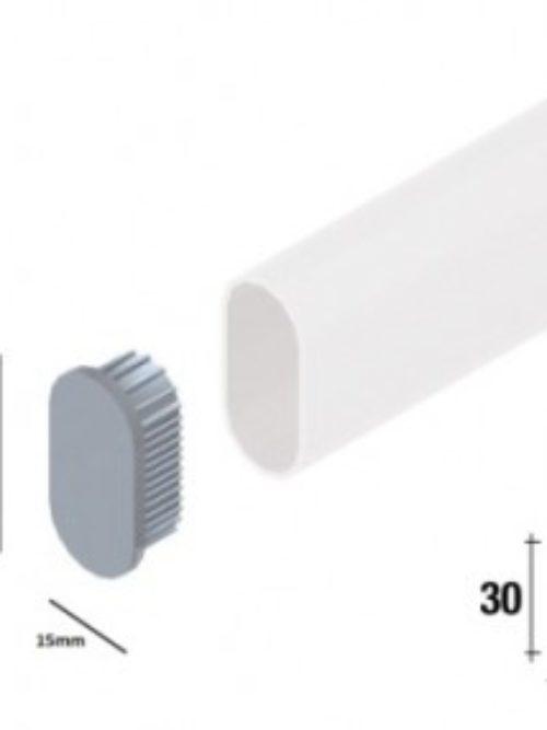 Čep za ovalnu cev mat