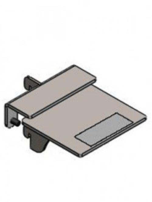 Nosač staklene police 8mm centralni 8cm plastificiran