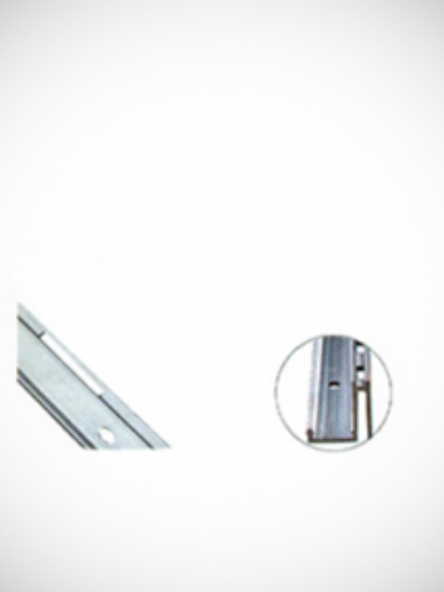 L Vertical slide aluminium profile