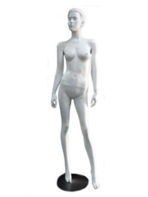 White female mannequin with face