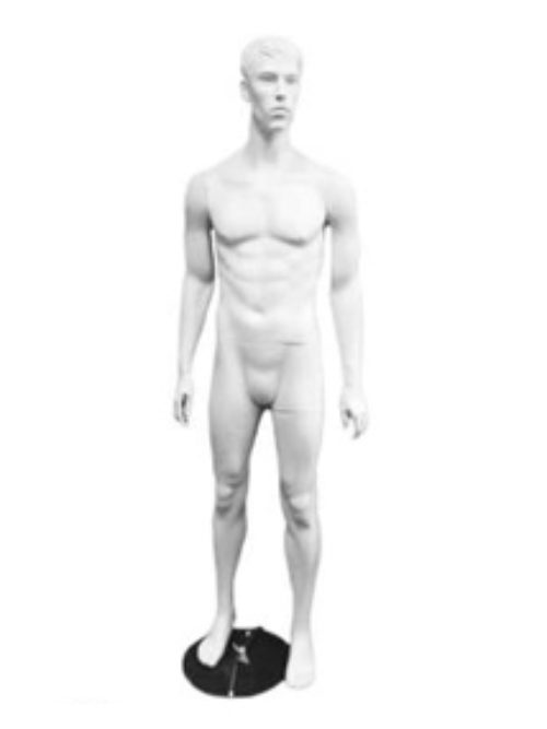 White male mannequin with face