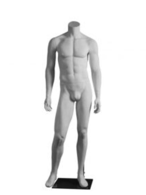 Headless white male mannequin