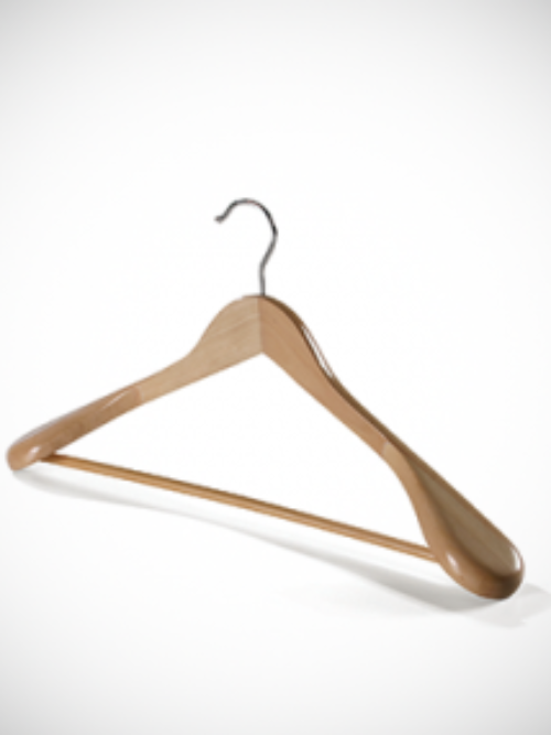 Wooden hanger wider brighter