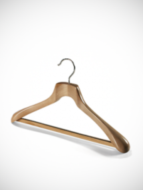 Wooden hanger wider