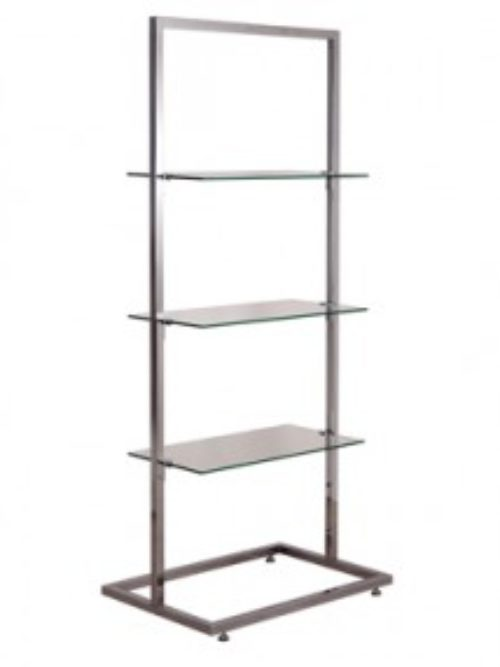 Free standing stander for glass shelves