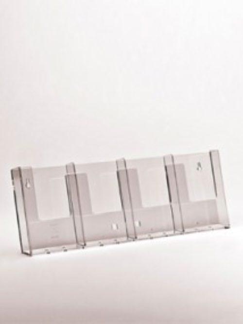 Stalak za flajere za zid A4 format 4u redu