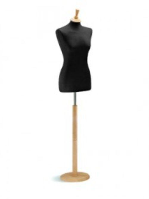 Krojačka lutka ženska sa drvenim postoljem podloga karton