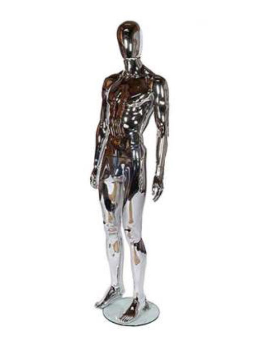 Male mannequin model – chrome