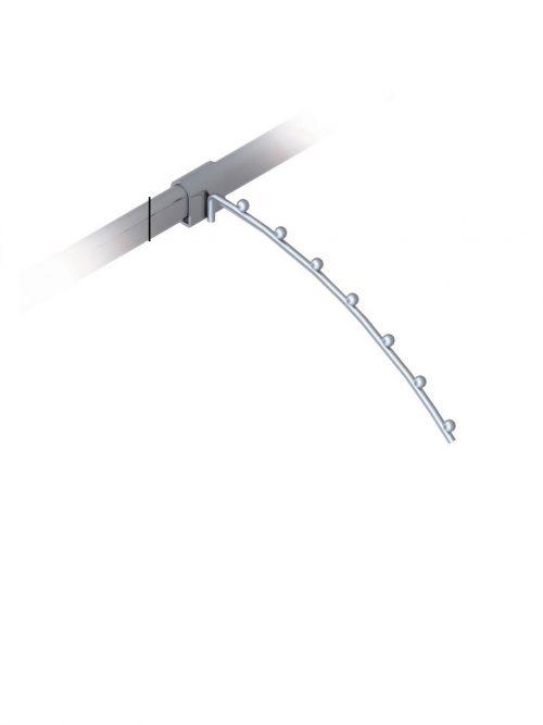 Lučni frontalni nosač 30cm hromiran za ovalnu cev