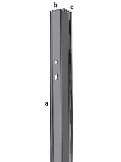 Aliasys vertikala aluminijumska L ivicna desna 240cm za panele korak 50mm