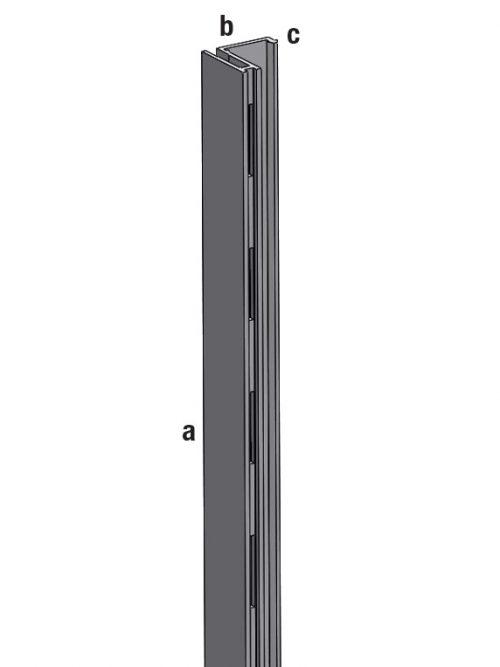 Aliasys vertikala aluminijumska L ivicna leva 240cm za panele korak 50mm
