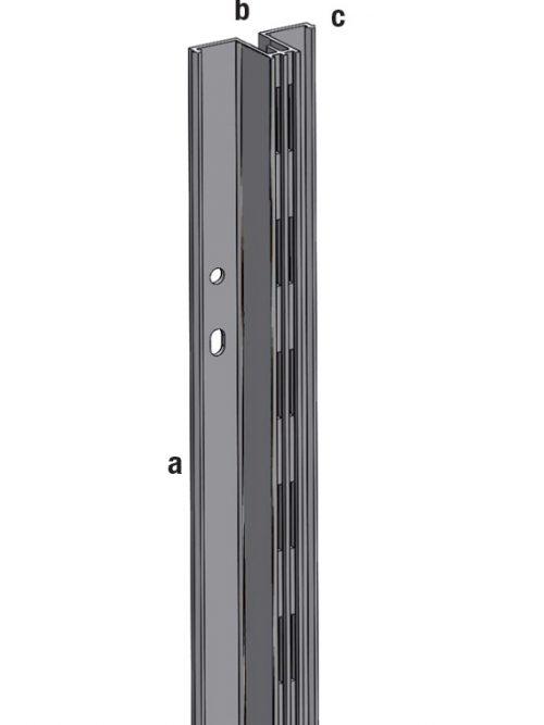 Aliasys vertikala aluminijumska T srednja 240cm za panele korak 50mm