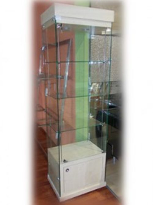 Staklena vitrina tip 9 led svetlo