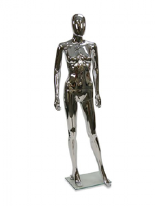 Female mannequin model – chrome