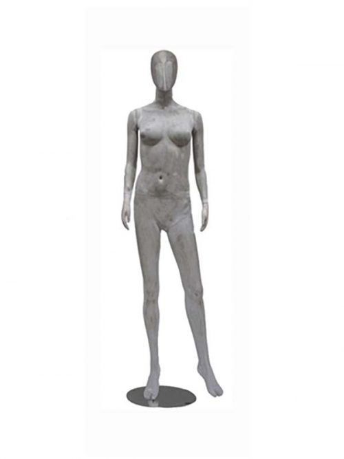 Mannequin doll female concrete finish